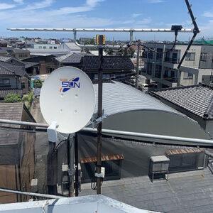 富山市テレビアンテナ工事