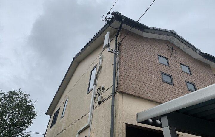 富山市T邸 テレビアンテナ設置工事